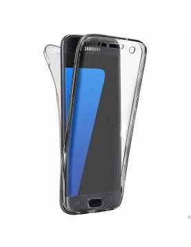 Coque 360° Silicone minigel Samsung Galaxy S6 - Noir