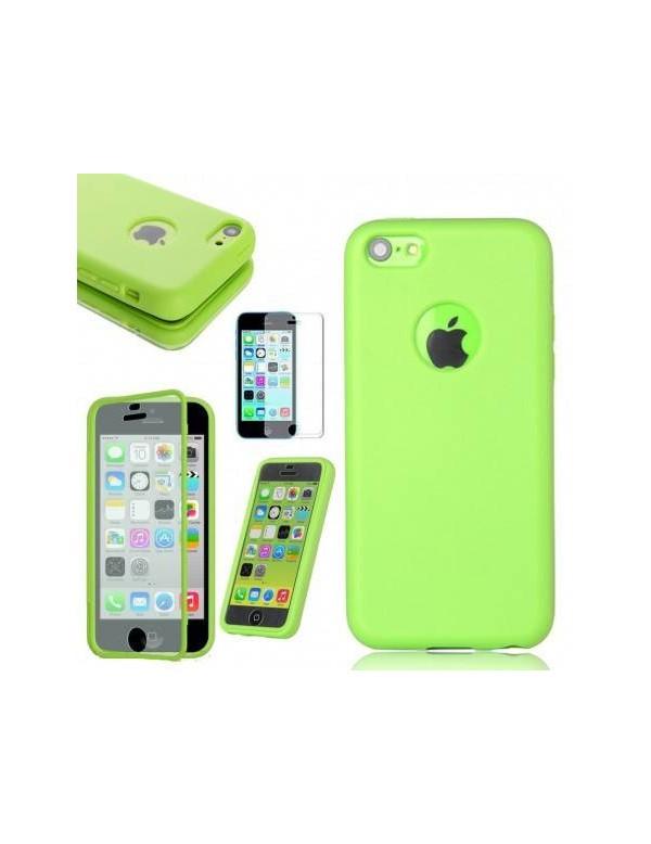 COQUE ETUI HOUSSE Flip Cover Silicone Gel iPhone 6/6S Plus 5.5in - Vert
