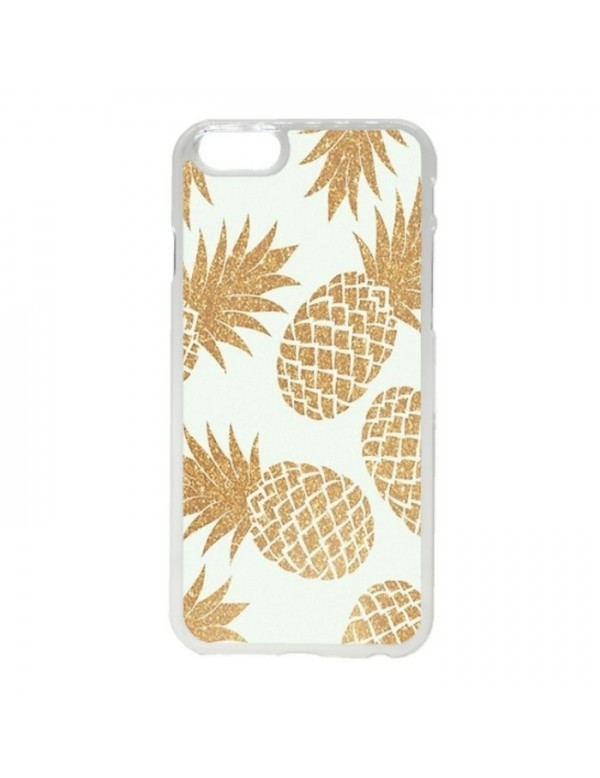 Coque rigide iPhone 6/6S - Des ananas couleur or