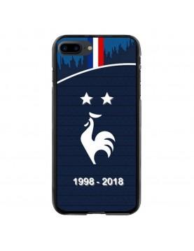 Coque rigide iPhone 7 PLUS et 8 PLUS - Football Champion du monde 2018