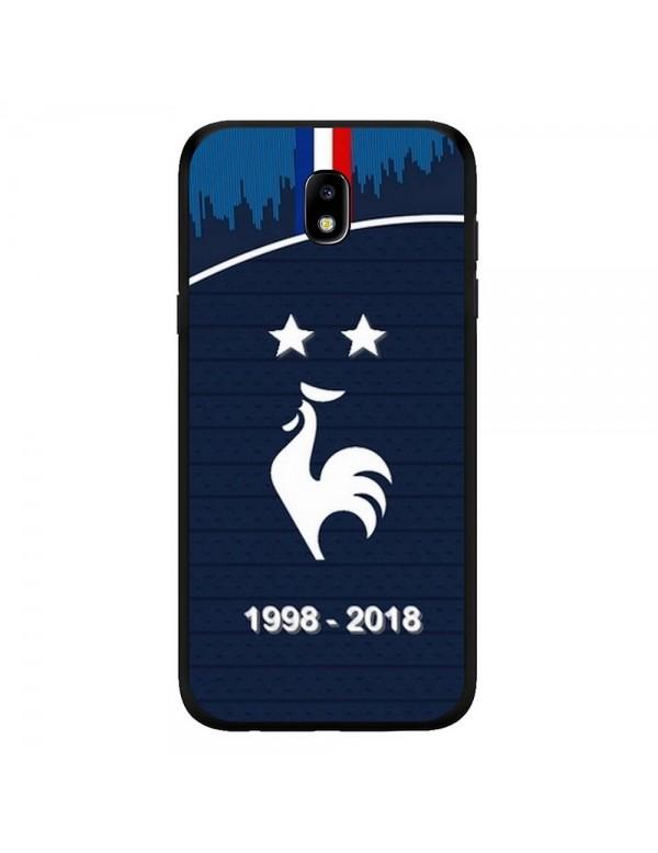 Coque rigide Samsung Galaxy J7 2017 - Football Champion du monde 2018 - Merci les bleus!