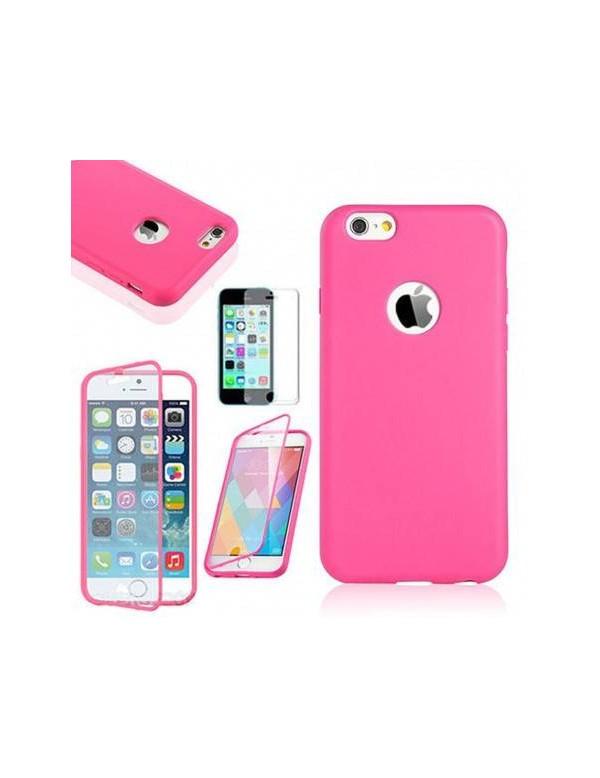COQUE ETUI HOUSSE Flip Cover Silicone Gel iPhone  6/6S Plus 5.5in- Rose