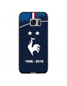 Coque rigide Samsung Galaxy S7 - Football Champion du monde 2018 - Merci les bleus!