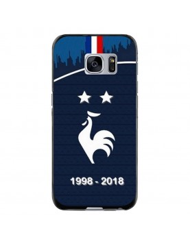 Coque rigide Samsung Galaxy S6 EDGE PLUS - Football Champion du monde 2018 - Merci les bleus!