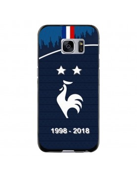 Coque souple Samsung Galaxy S6 - Football Champion du monde 2018 - Merci les bleus!