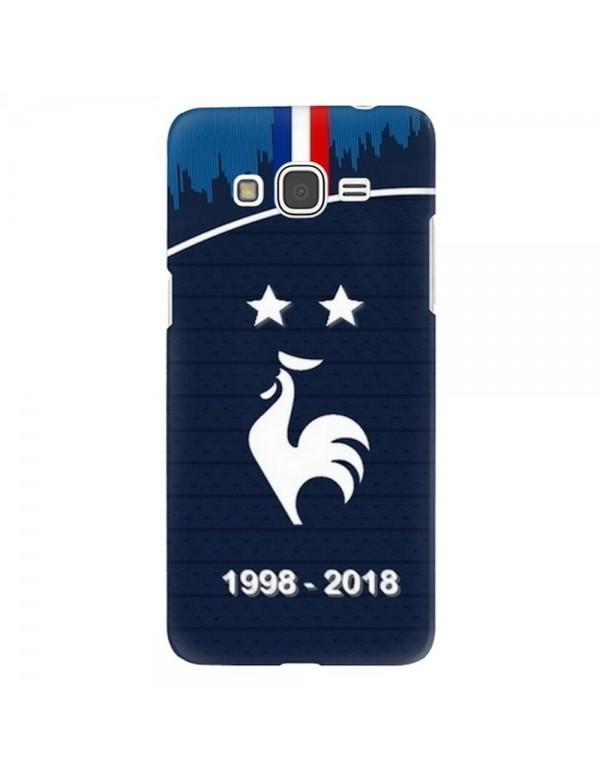 Coque rigide Samsung Galaxy Grand Prime - Football Champion du monde 2018 - Merci les bleus!
