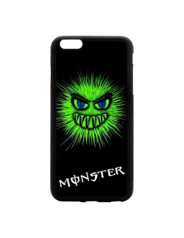 Coque rigide iPhone 6/6S - Tête monster vert fluo