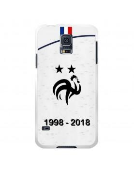 coque-Samsung-Galaxy-S5-football-champion-du-monde-2018-Maillot-Blanc-extérieur