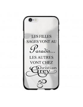 Coque rigide iPhone 6 PLUS/6S PLUS - Christian Grey - 50 nuances - Menottes