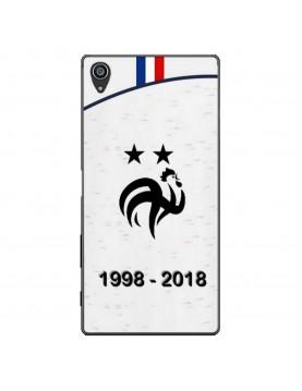 coque-Sony-Xpéria-Z5-football-champion-du-monde-2018-Maillot-blanc