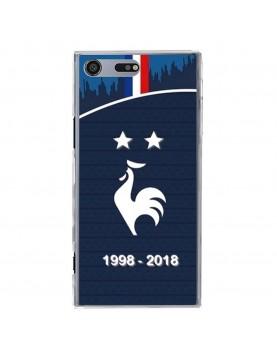 coque-Sony-Xpéria-XZ-Premium-football-champion-du-monde-2018-Maillot-bleu-domicile