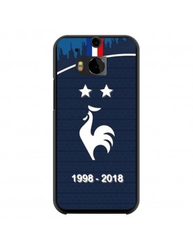 coque-HTC-One-M8-football-champion-du-monde-2018-Domicile-Maillot-Bleu