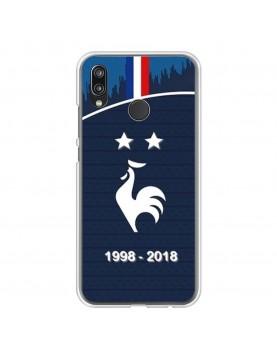 Coque rigide Huawei P20 LITE - Football Champion du monde 2018 - Merci les bleus!