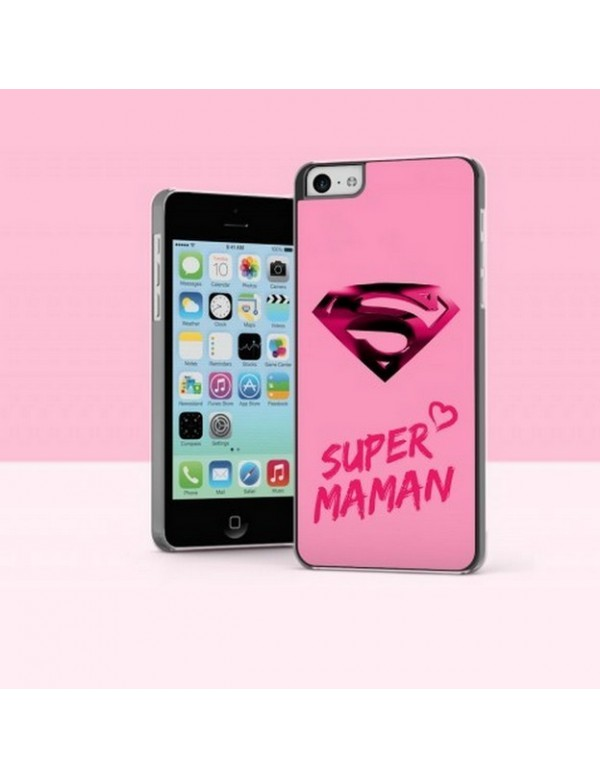 Coque iPhone 5C Super Maman