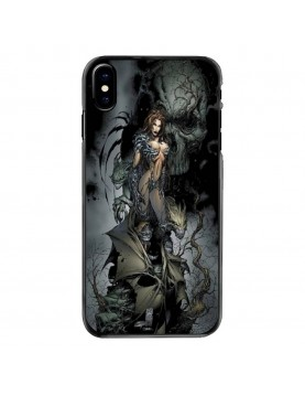 Coque-iPhone-X-Crane-skull-sexy-gothique