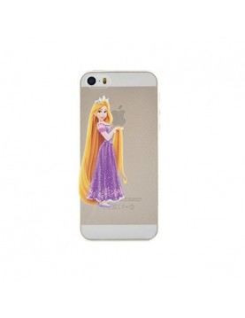 Coque rigide translucide iPhone 5C Princesse Raiponce