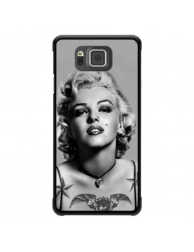 Coque-Samsung-Galaxy-alpha-Marylin-Monroe-Tatoué-noir-blanc