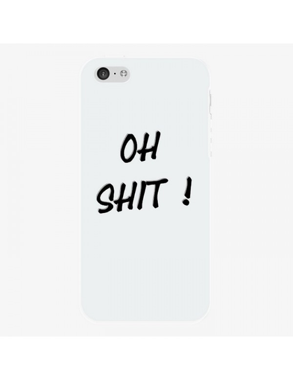 Coque rigide Blanche iPhone 5C Oh shit!
