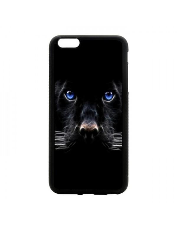 Coque iPhone 5C Panthere noire aux yeux bleus