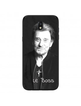 Coque-Samsung-Galaxy-J7-2017-Rigide-Noir-Johnny-Le-Boss
