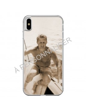 iPhone X/XS - Coque personnalisable - Contour Souple Transparent