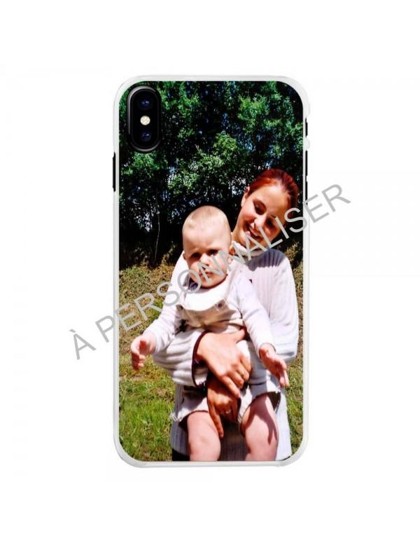 Coque personnalisable pour iPhone X/XS - Contour souple Blanc