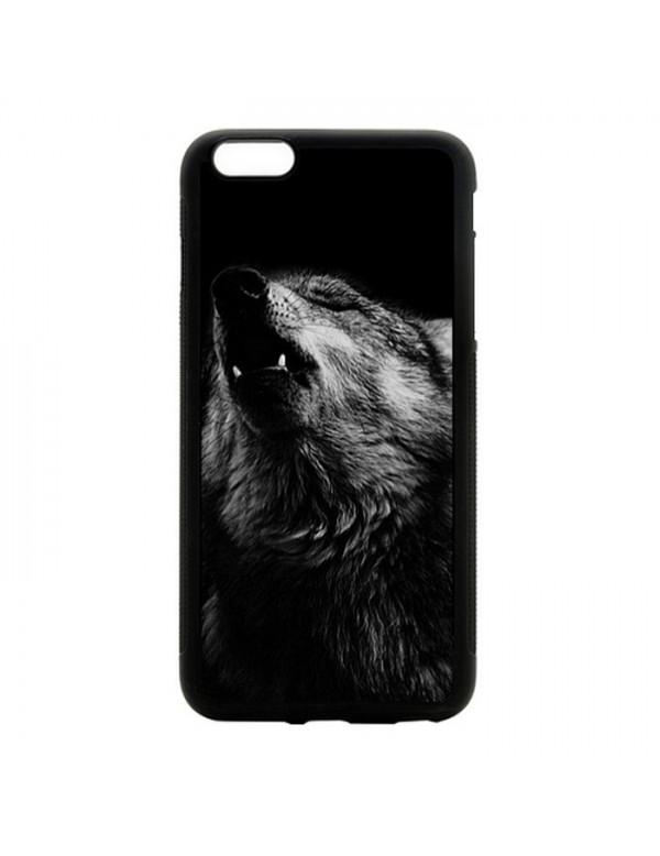 Coque iPhone 5C magnifique loup noir et blanc