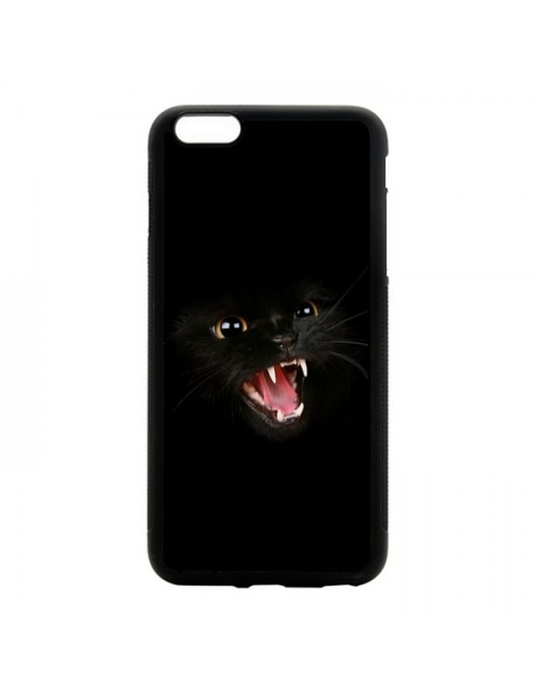Coque iPhone 5C Chat noir terrifiant