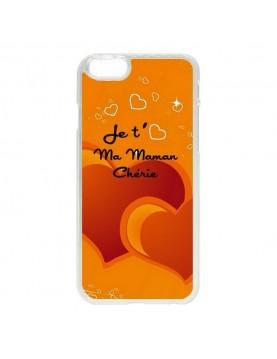 Coque iPhone 5C orange je t aime ma maman cherie