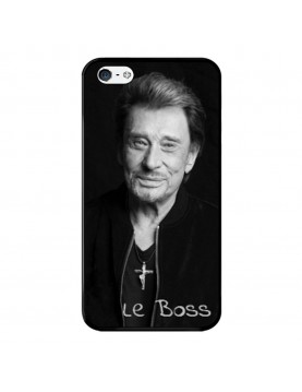 Coque-iPhone-4-4s-Souple-Noir-Johnny-Le-Boss