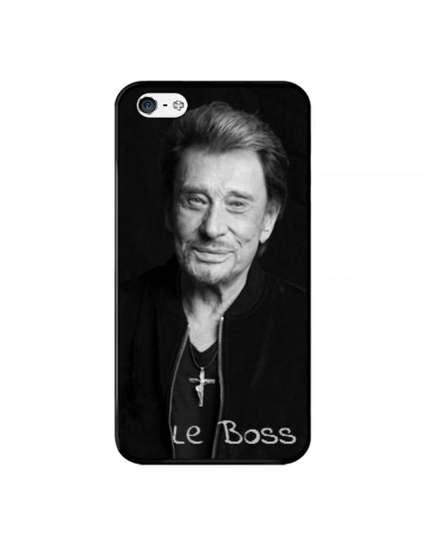 Coque iPhone 4/4S Rigide Noir Johnny Le Boss