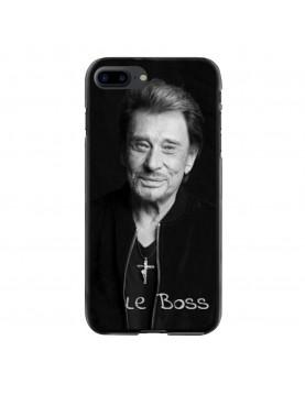 Coque iPhone 7 PLUS/8 PLUS Souple Noir Johnny Le Boss