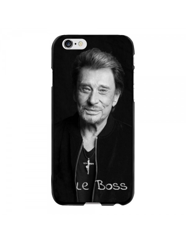 Coque-iPhone-6-Plus-6S-Plus-Souple-Noir-Johnny-Le-Boss