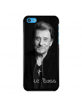 Coque-iPhone-5C-Souple-Noir-Johnny-Le-Boss