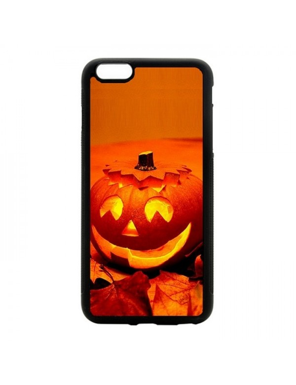 Coque iPhone 5C Halloween citrouille orange