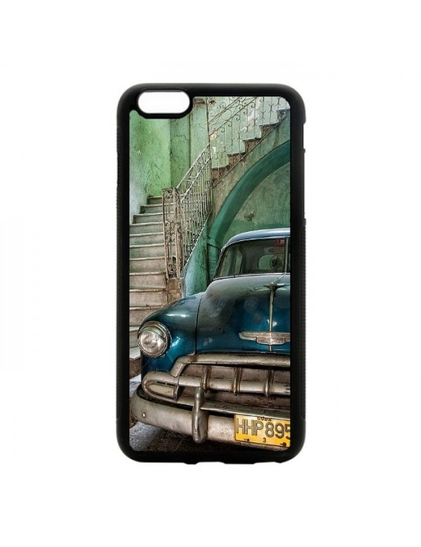 Coque iPhone 5C Chevrolet bleue Collection belles américaines de Cuba