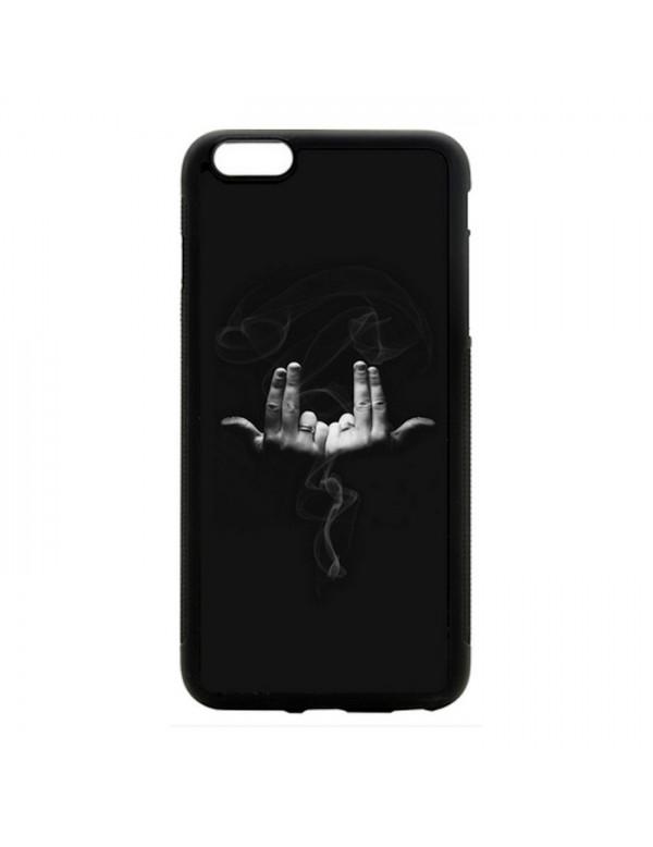 Coque noir pour iPhone 5C - Geste rappeur Jul