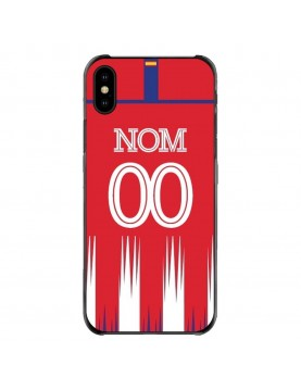 Coque-iPhone-XS-Max-Atletico-Madrid-Domicile-Maillot-Rouge-Espagne