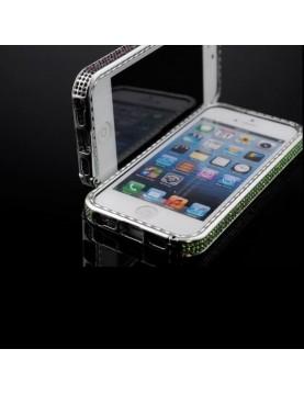 Bumper iPhone 5/5S, SE à Strass Couleur-Vert clair