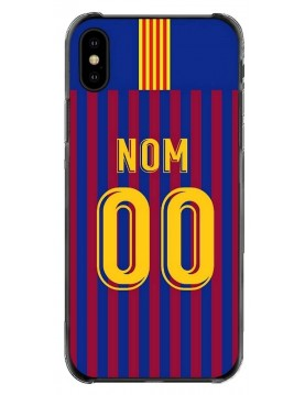 Coque foot FC Barcelone personnalisable pour iPhone XS Max