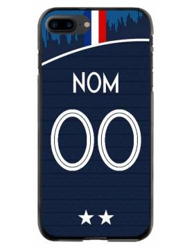 Coque personnalisable iPhone 7 PLUS - 8 PLUS - France coupe du monde domicile