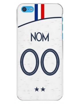 Coque football à personnaliser pour iPhone 5c Coupe du monde Maillot blanc extérieur
