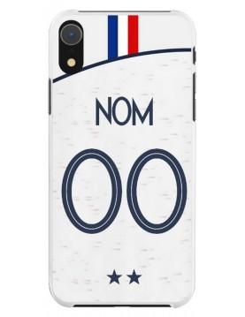 Coque football pour iPhone XR - Coupe du monde 2018 maillot blanc extérieur