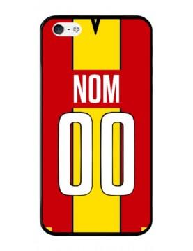Coque football personnalisable iPhone 4-4S équipe de Lens maillot domicile