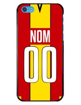 Coque football personnalisable iPhone 5C équipe de Lens maillot domicile