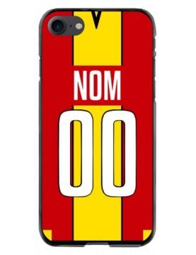 Coque football personnalisable iPhone 7 et 8 équipe de Lens maillot domicile