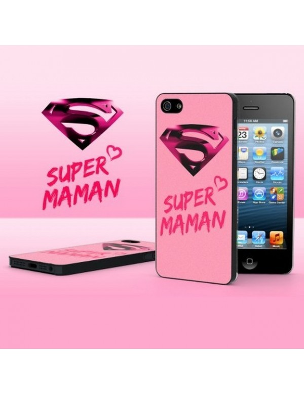 Coque rigide iPhone 5/5S Super maman