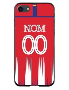 Coque iPhone 7 et 8 - Football Atletico Madrid Domicile - Personnalisable