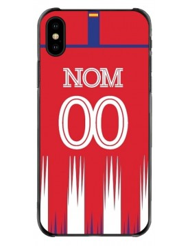 Coque iPhone X-XS - Football Atletico Madrid Domicile - Personnalisable
