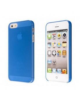 Coque iPhone 5/5S et SE souple translucide Bleu.